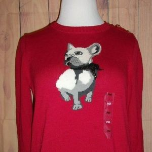 Charter Club Embellished Dog Graphic PM Sweater